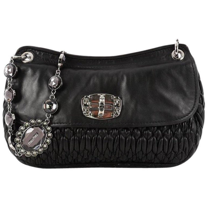 cf3ff2f7624 Miu Miu Crystal Flap Shoulder Bag Matelasse Leather Medium at 1stdibs