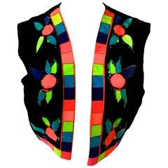 Mr. Dino Velvet Geometric and Floral Vest