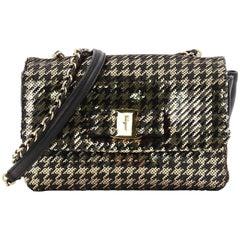 Salvatore Ferragamo Miss Vara Bow Crossbody Bag Sequin Embellished Lambskin