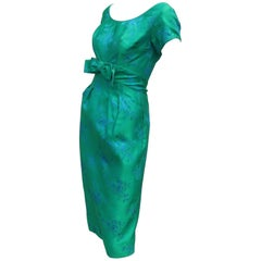 Emma Domb Blue and Green Party Dress, 1950s