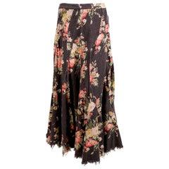 2002 JUNYA WATANABE Comme Des Garcons floral seamed runway skirt
