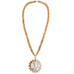 Nettie Rosenstein 1960s Medallion Necklace