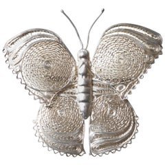 Taxco Mexico Sterling Butterfly Brooch