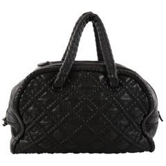 Chanel Quilted Lambskin Large Hidden Chain Bowler Bag