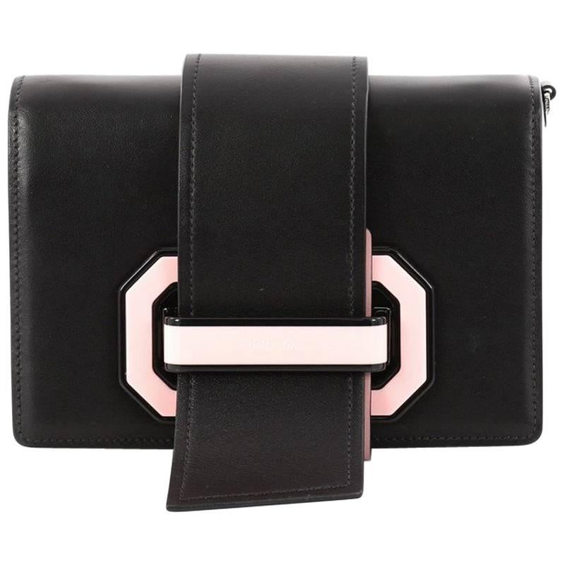 1stdibs Prada Light Frame Saffiano Leather Shoulder Bag - Black 2018 qo2TnxU