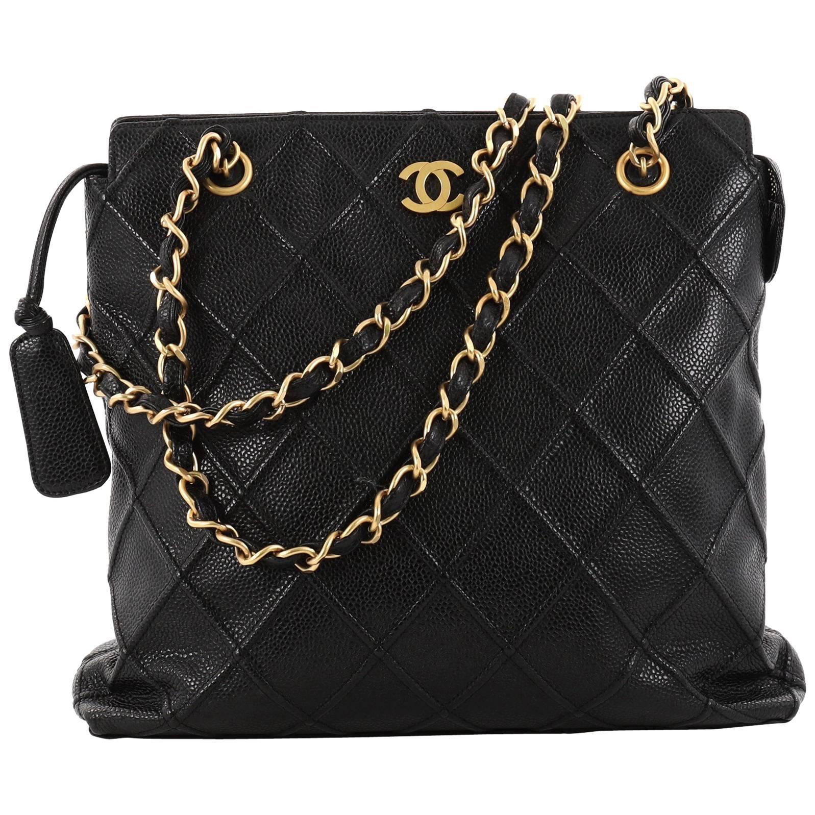 1stdibs Vintage Chanel Black Chevron Quilted Chain Handbag LZ02cQ8