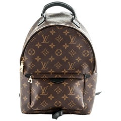 Louis Vuitton Monogram Palm Springs PM Backpack Bag with DB
