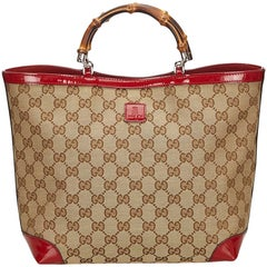 Gucci Tan Bamboo Top Handle Tote bag