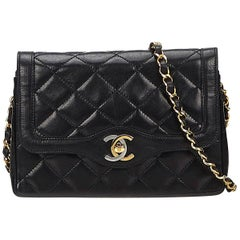 Chanel Black Mini Matelasse Crossbody Bag