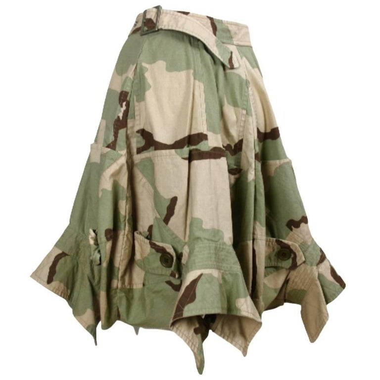 Comme des Garcons Junya Watanabe 2005 Collection Camouflage Jacket Back Skirt