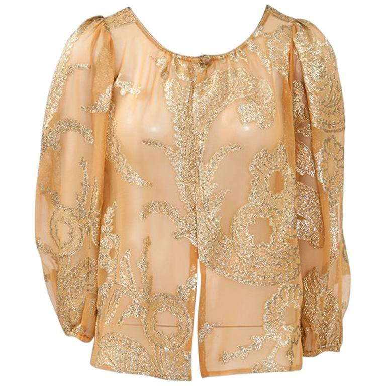 """Yves Saint Laurent """"Russian Collection"""" Top, Fall / Winter 1976"""