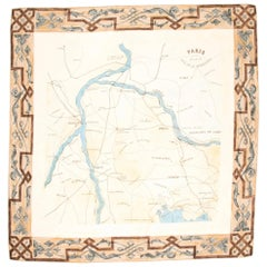 1990's AZZEDINE ALAIA map of Paris silk scarf
