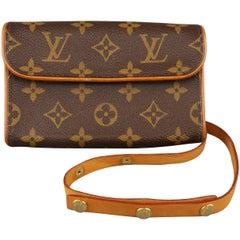 LOUIS VUITTON Brown Monogram Pochette Florentine Fannypack Belt Bag