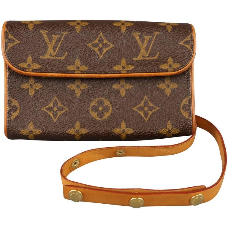 8a9123a4b LOUIS VUITTON Brown Monogram Pochette Florentine Fannypack Belt Bag For Sale