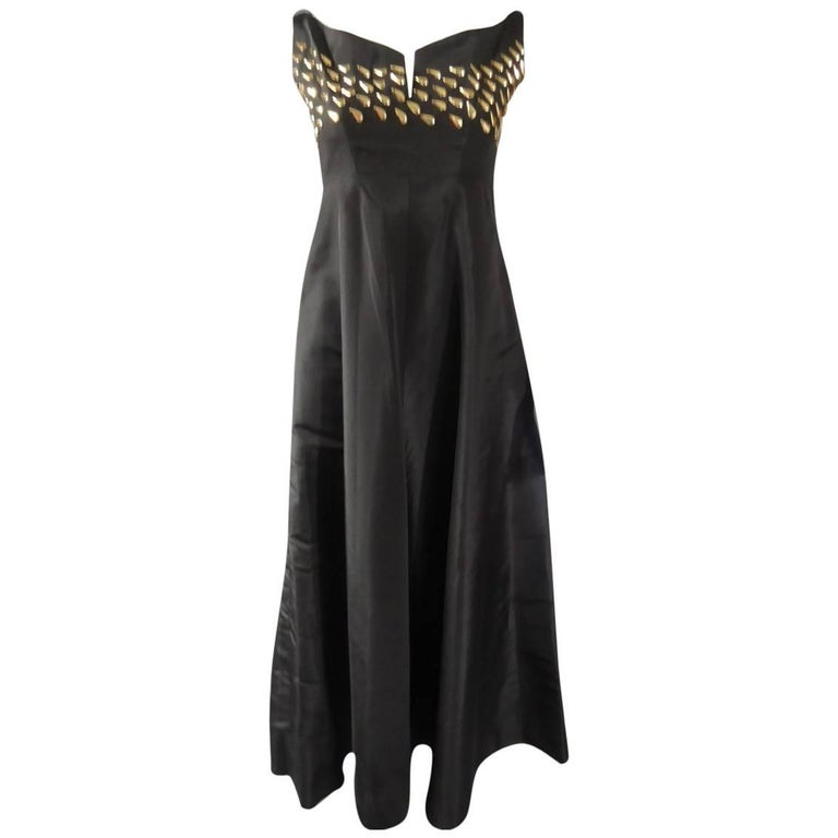 Jeanne Lanvin Haute Couture Dress, 1960 For Sale