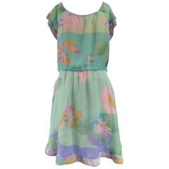 Léonard Chiffon Printed Dress