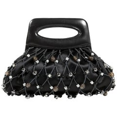 Chanel Black Mesh Evening Bag