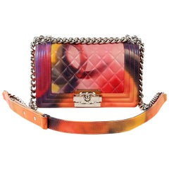 Chanel Flower Power Limited Edition Boy Bag- Multicolor