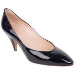 Mansur Gavriel Black Patent Leather 65mm Classic Heels