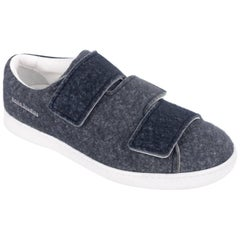 Acne Studios Bi-Color Grey Triple Lo Felt Velcro Sneakers