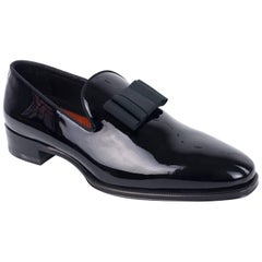 DSquared2 Men's Black Patent Tuxedo Slip On Loafers
