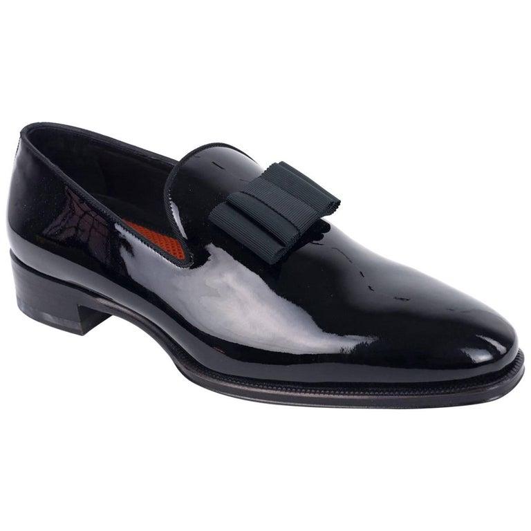 DSquared2 Men's Black Patent Tuxedo Slip On Loafers