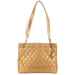 Chanel Vintage Shopping Tote Quilted Leather Medium