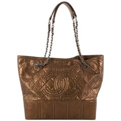 Chanel Shopping In Moscow Tote Quilted Distressed Leather Large