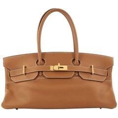 Hermes Birkin JPG Handbag Brown Clemence with Gold Hardware 42