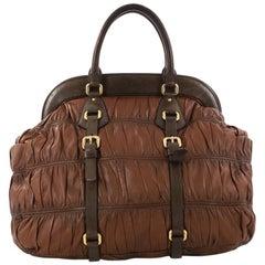 Prada Gaufre Frame Bag Nappa Leather Large