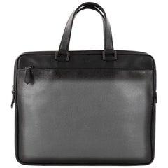 Fendi Front Zip Briefcase Leather