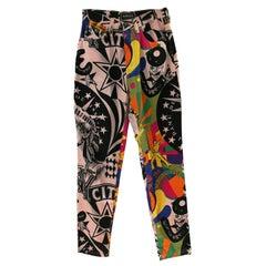 Gianni Versace multicoloured Cotton Rare Trousers