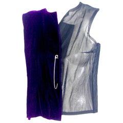 Comme des Garcons 1998 Collection Velvet Half Waistcoat