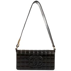 Chanel Black Leather Square Quilted Day Bag