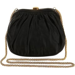 Chanel Black Vintage Framed Evening Bag