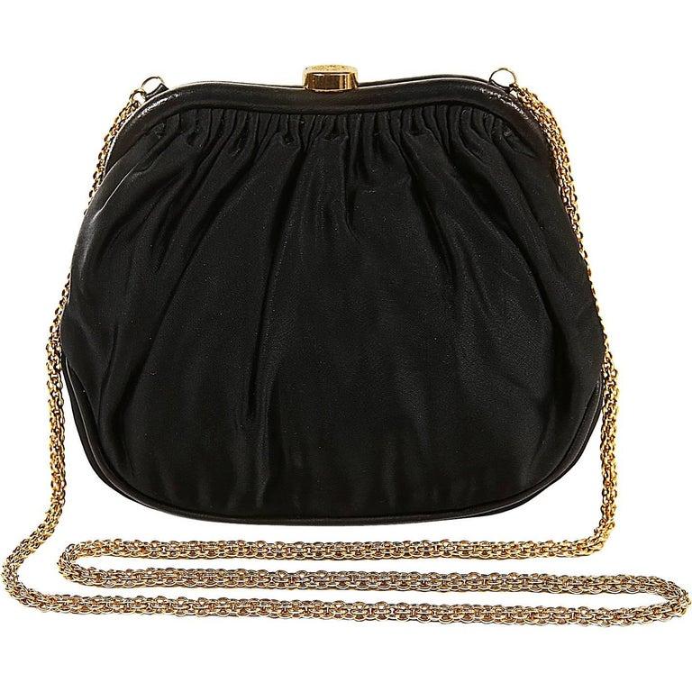 Chanel Black Vintage Framed Evening Bag