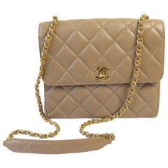 Chanel Taupe Caviar Shoulder Bag