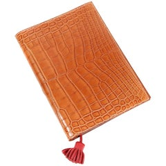 Hermès Barenia Tanned Alligator Agenda Cover