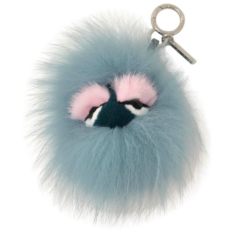 Fendi Monster charm key holder