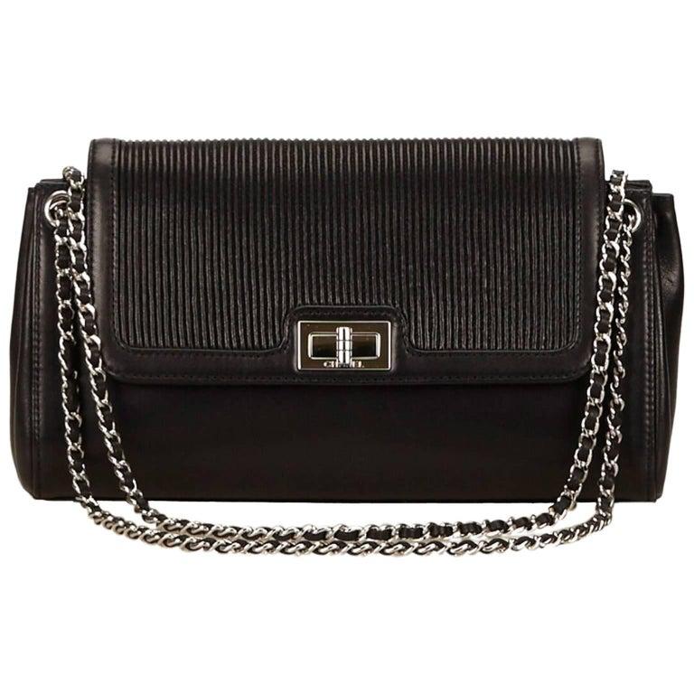 Chanel Black Lambskin Leather 2.55 Reissue Bag