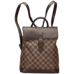 Louis Vuitton Brown Damier Ebene Soho Backpack