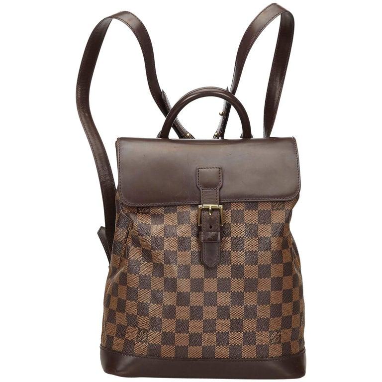 Louis Vuitton Brown Damier Ebene Soho Backpack
