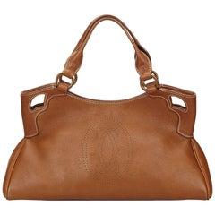 Cartier Brown Leather Marcello Handbag