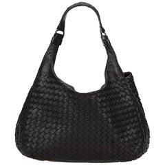 Bottega Veneta Black Intrecciato Campana Hobo Bag