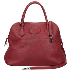 Hermes Red Taurillon Bolide 31 Bag