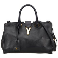Yves Saint Laurent YSL Black Small Cabas Chyc Bag
