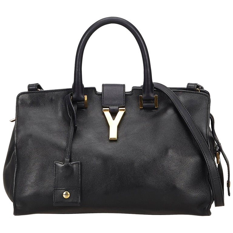 Yves Saint Lau Ysl Black Small Cabas Chyc Bag For