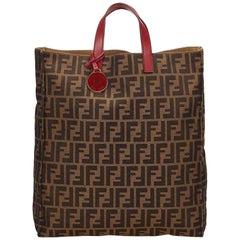 Fendi Brown Zucca Shopper Tote Bag