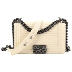 Chanel Boy Flap Bag Horizontal Quilted Leather Small