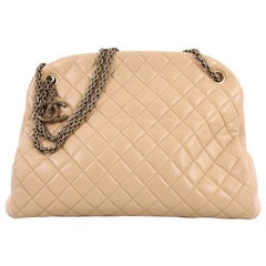 Chanel Just Mademoiselle Handbag Quilted Lambskin Large